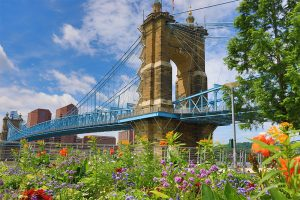 The-John-A.-Roebling-Bridge-was-built-in-1866-to-connect-Covington-Kentucky-to-Cincinnati-,-Ohio